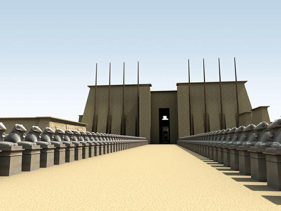 Team S Re Creation Of Ancient Karnak Brings History Of