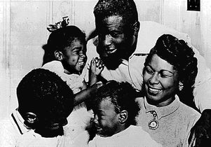 Jackie and Rachel Robinson and family
