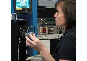 Mcarthur in training on simulator