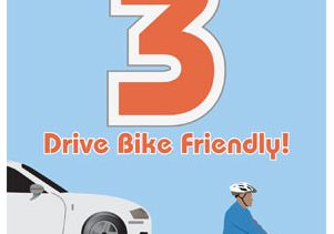 Drive Bike Friendly Poster.