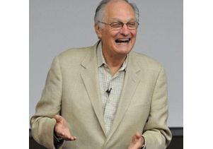 Alan Alda square laughing