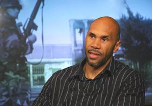 Darnell Hunt in in broadcast studio lighter