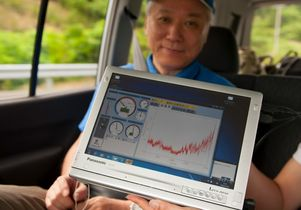 Monitoring radiation around Fukushima