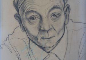 Franciszek Jaźwiecki, a Polish artist and political prisoner at Auschwitz, made portraits of fellow prisoners.