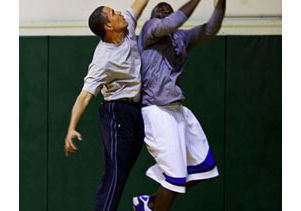 Basketball-Obama and Love-WH photo