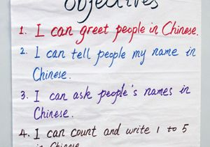 Class Expectations Sign in Mandarin