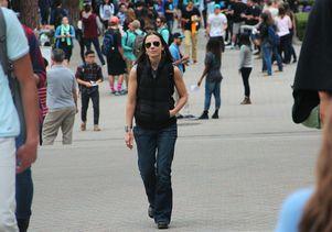 Justine Bateman on Bruin Walk