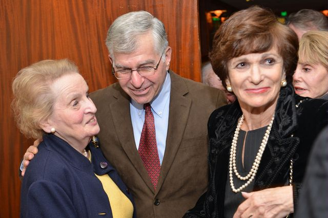 Madeleine Albright with Michael and Kitty Dukakis