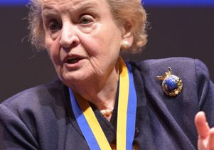 Madeleine Albright in Royce Hall