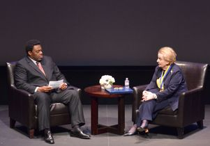 Frank Gilliam and Madeleine Albright
