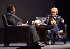 Madeleine Albright and Frank Gilliam