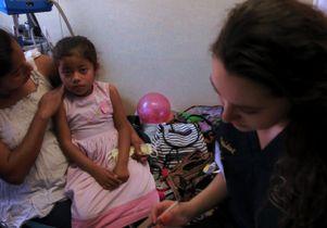 Child at UCLA clinic in Tijuana