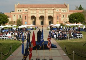 UCLA's 2014 Veterans Day ceremony