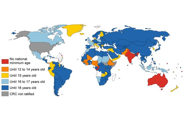 A global report card are children better off than they were 25 minimum age map gumiabroncs Images