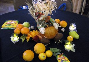 Fall Harvest Feast table