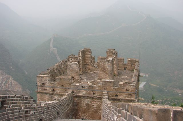 Pollution on Great Wall of China
