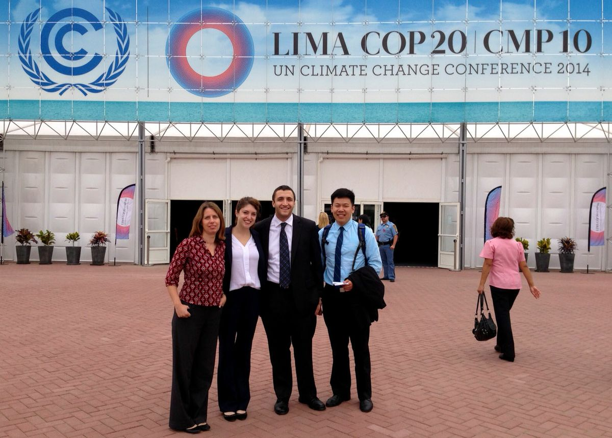 UCLA students at U.N. COP20 climate conference