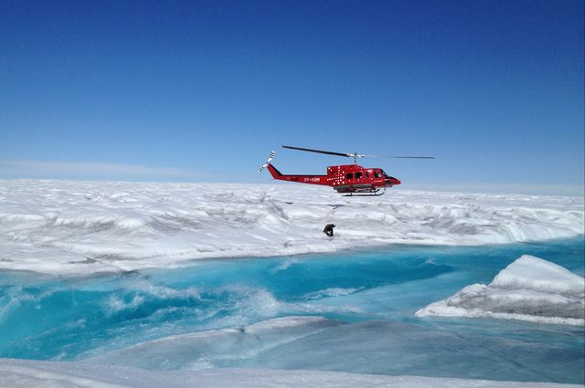 Copter over Greenland