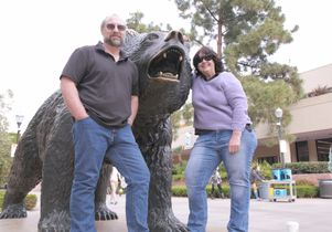 Dan Les and Angela Marciano with the Bear
