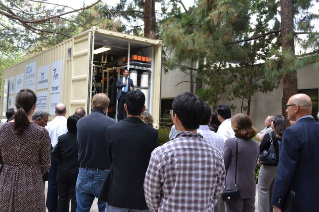 UCLA Engineering's mobile water treatment plant
