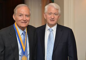 James Easton (left) and Chancellor Gene Block