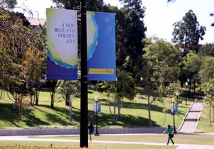Banners for The Centennial Campaign for UCLA