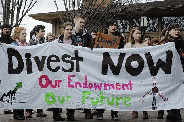 Divestment protest