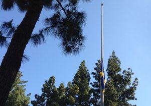 Flag half-staff at UCLA