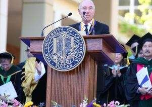 David Geffen at the Hippocratic Oath ceremony
