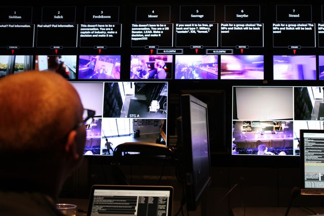 Google Glass control room