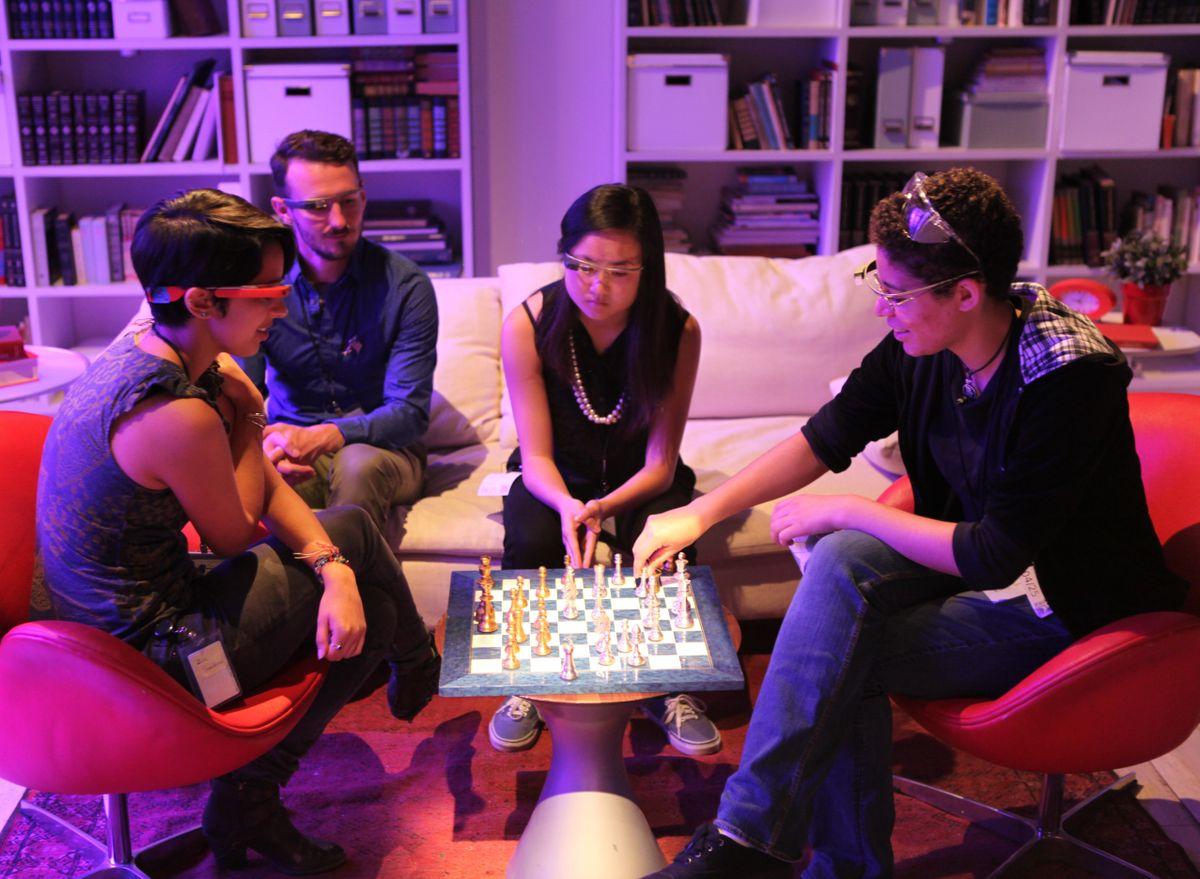 Google Glass chess playing