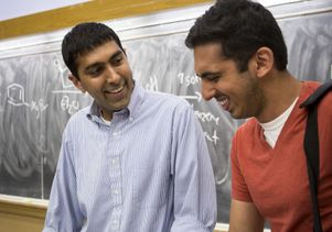Neil Garg teaches organic chemistry, with teaching assistant Tejas Shah