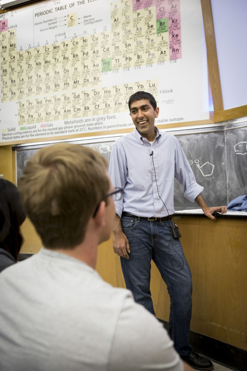 Neil Garg teaches organic chemistry