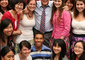 Donald Neuen with colleagues and students