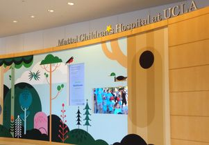 Welcome wall at Mattel Children's Hospital UCLA