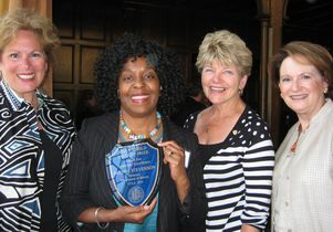 Brenda Stevenson and members of Gold Shield, Alumnae of UCLA. Faculty Prize