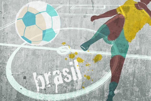World Cup grafitti on a wall