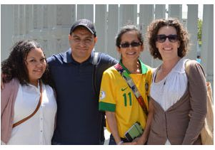 Teachers attending a seminar at UCLA on soccer as a teaching tool