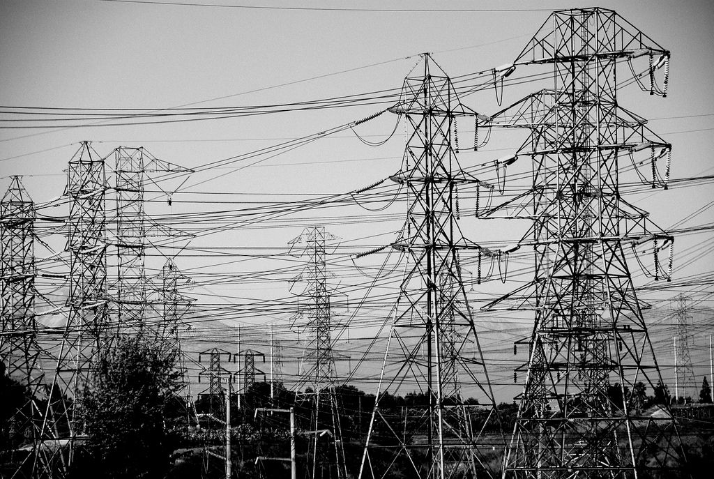 Power lines - UCLA commuter photo