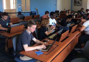 American Sign Language students at UCLA