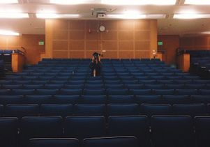 Empty lecture hall after graduation