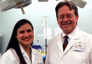 Raquel Ulma with Dr. Earl Freymiller