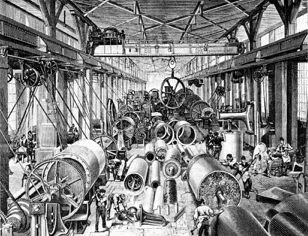 industrial revolution 1850 1900 britain By 1928, long after uk has finished first industrial revolution and also finished second industrial revolution, uk adopted universal suffrage ok, now look at us before 1820, even before united states became a unified nation, us has already started, had already started proto-industrialization.