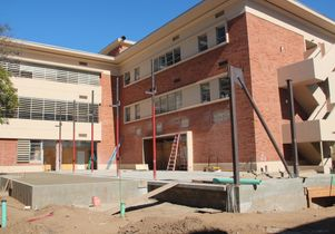 Construction at Campbell Hall