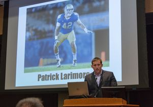 Patrick Larimore, former player for the Bruins