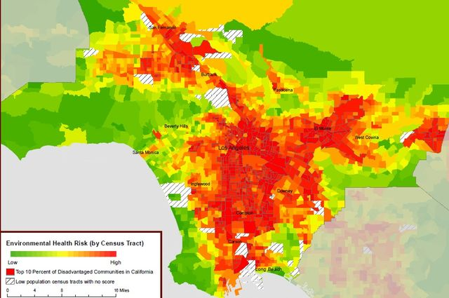 L.A. health risk map