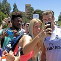 Abby Dahlkemper and Gareth Bale