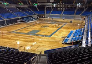 UCLA Flooding Pauley court