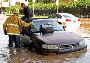 UCLA Flooding car rescue