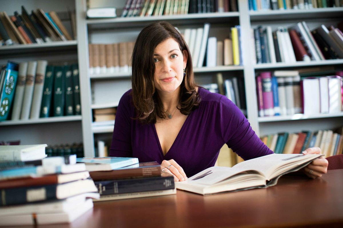 Kara Cooney with books